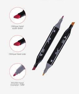 Image 3 - 30/40/60/80/168 di colore Pennarelli Artistici Set Dual Intestata Artista Schizzo Grassa A Base di Alcool marcatori per Lanimazione penna di indicatore