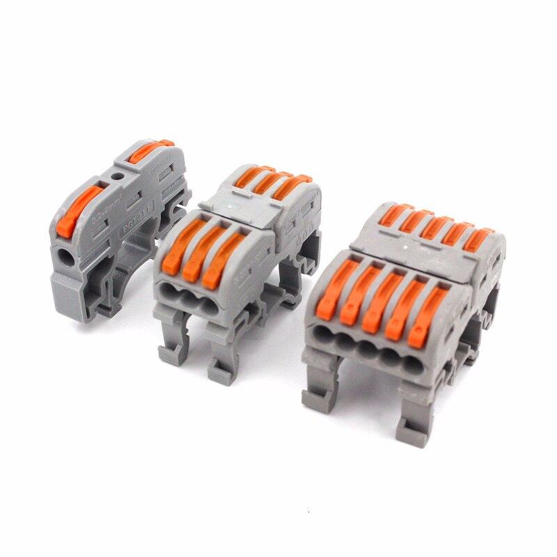 10PCS 221 222 3 SPL-1 PCT-211 Rail Type Quick Terminal Block Press Plug Instead Of UK 2.5B Connectors Electrical