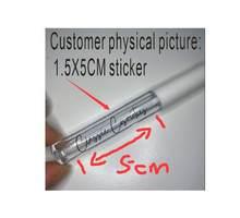 Nome feito sob encomenda transparente da etiqueta do tubo cosmético da etiqueta do bálsamo do bordo da etiqueta do creme 100 pces personalizado do tubo do brilho do bordo