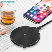 FDGAO Qi Беспроводное зарядное устройство 10 Вт/7,5 Вт QC3.0 Быстрая зарядка телефона для iPhone 11 X XR XS Max Airpods Pro samsung S10 S9 USB зарядка
