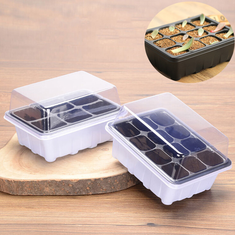 6/12 Holes Planting Seed Tray Kit Plant Germination Box With Dome And Base Garden Grow Box Gardening