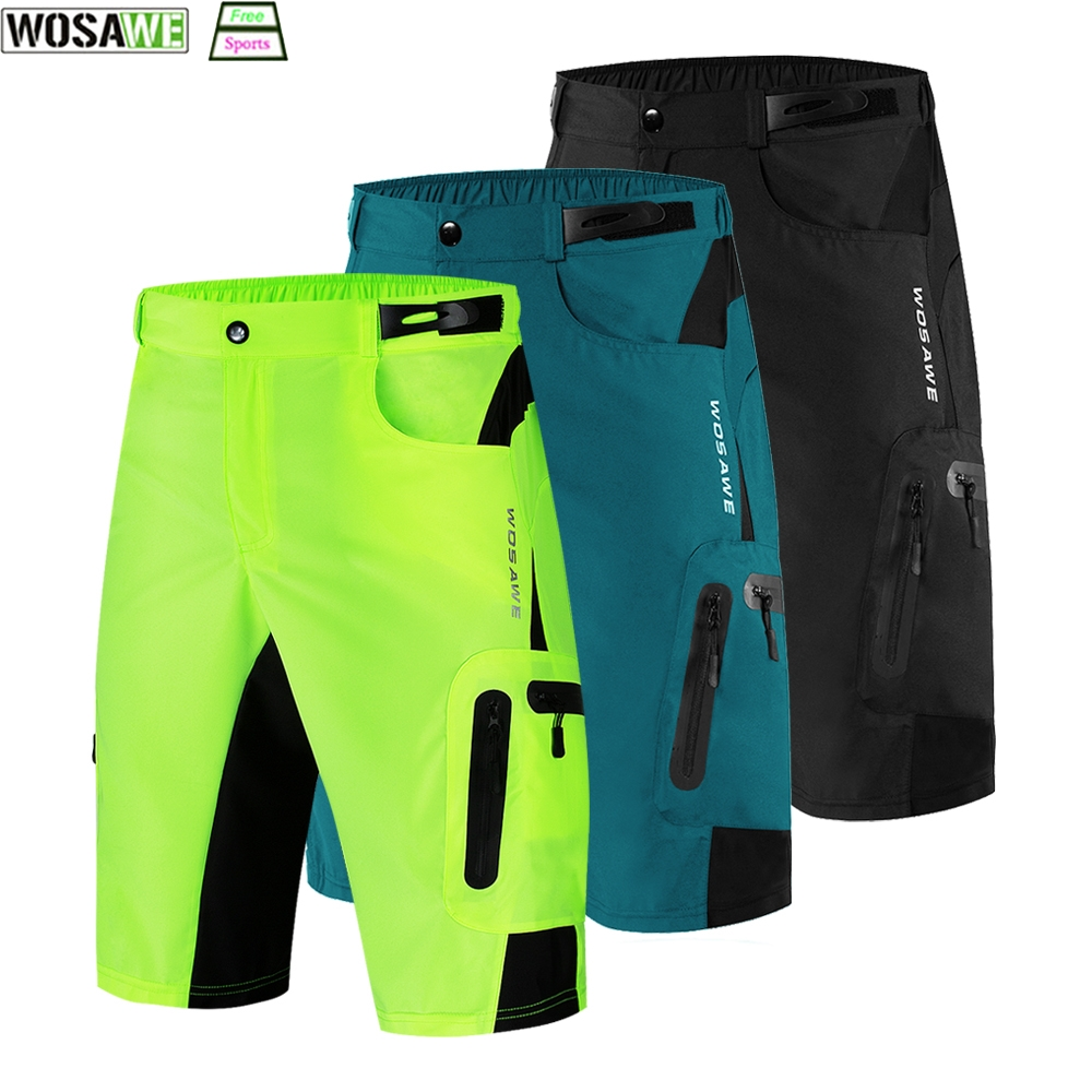 WOSAWE Motocross MTB Bicycle Shorts Breathable Loose Outdoor Sports Mountain Bike Men's Cycling Riding Running Shorts Trousers