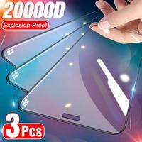 3Pcs Volle Abdeckung Gehärtetem Glas auf Für IPhone 11 12 Pro Max Screen Protector für IPhoneX Xs Max XR gebogene Kante Schutz Glas