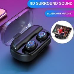 V10 Tws casque sans fil Bluetooth 5.0 casque 8D Mini in-ear sport en cours d'exécution écouteurs Support IOS/Android téléphones HD appel