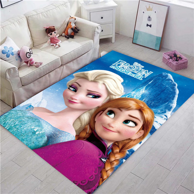 Disney Frozen Rug Kids Playmat Cartoon Princess Cute Children Room Carpet Tale Girl Bedroom Living Room Blanket Kids Rug Gift