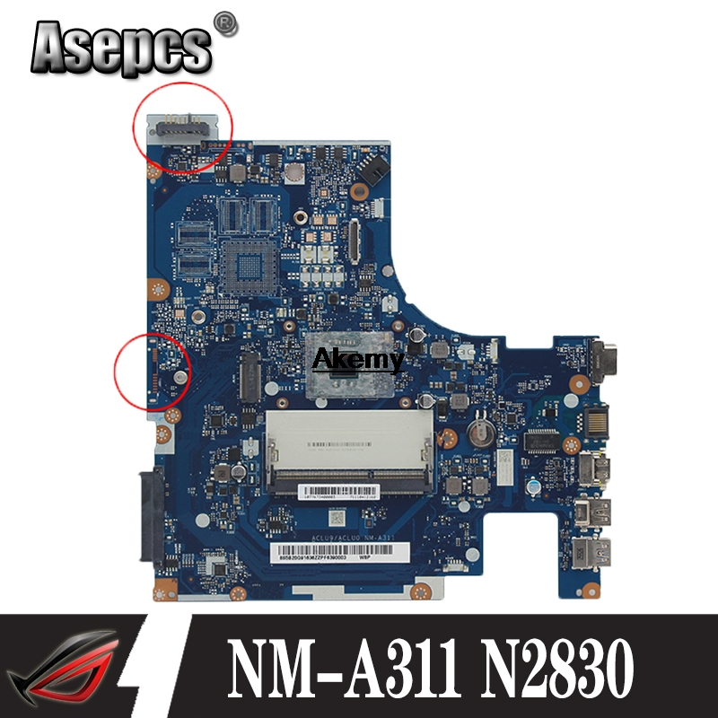 Brand New aclu9 / <font><b>NM</b></font> - aclu0 <font><b>A311</b></font> laptop Motherboard Lenovo Laptop with n2830 G50 - 30 CPU (Intel CPU 100% test) image
