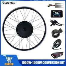 Когда-нибудь 48V 1000W/1500W Ebike конверсионный Комплект Задний BLDC ступица моторное колесо 20-29 дюймов 700C колесо для электрического велосипеда конве...