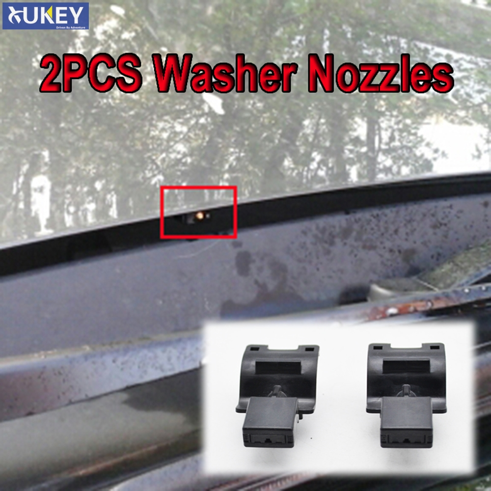 Wipers 2Pcs Front Windshield Wiper Washer Jet Nozzle for Toyota Corolla Altis Camry Auris Highlander 2007 2008 2009 2010