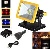 JIGUOOR reflector LED móvil Lámpara de trabajo proyección carga lámpara de emergencia 15W reflector portátil