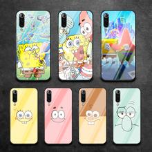 Cute Sponge-Bob Phone Tempered Glass Case Cover For Xiaomi Mi A3 Max3 Note 9 10 I T Pro Lite Ultra Fashion 3D Tpu Etui