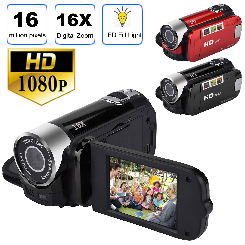 <font><b>2</b></font>.7 Inch <font><b>TFT</b></font> <font><b>LCD</b></font> HD 1080P 16MP 16X Digital Zoom Camcorder Video DV Camera <font><b>2</b></font> Colours #20 #20 image