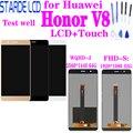 Для huawei Honor V8 KNT-AL20 KNT-UL10 KNT-AL10 KNT-TL00 ЖК-дисплей + кодирующий преобразователь сенсорного экрана в сборе с рамкой