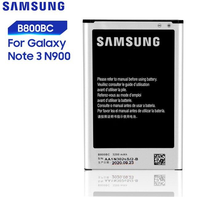 เปลี่ยนทดแทนSamsungแบตเตอรี่สำหรับGalaxyหมายเหตุ3 N900 N9002 N9009 N9008 N9006 N9005 Note3 B800BC B800BEพร้อมNFC 3200MAh