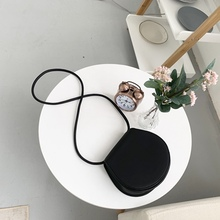 Mini Pu Small Round Bags Women Shoulder Bag Chic Solid Color Crossbody Purses Ladies Casual Messenger Flap Feminina