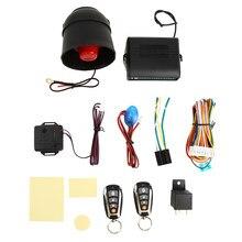 Kit de verrouillage Central pour alarme de voiture, avec capteur de choc, 2 télécommandes, pour porte