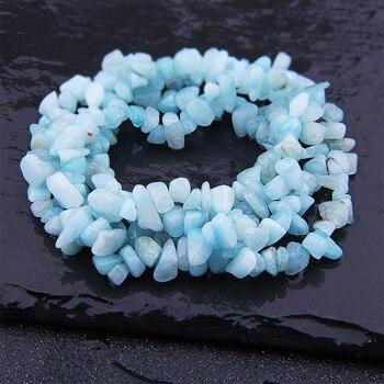 Aigue marine perles en pierre naturelle bleue pour la fabrication de Bracelet ou de collier accessoires