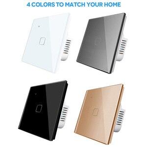 Image 5 - EU Standard 1 Weg Wifi Schalter Remote Voice Control Wand Licht Controller Smart Home Automation Touch Google Gome Tuya
