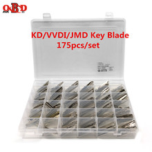 HKOBDII 175/세트 빈 금속 Uncut 자동차 키 블레이드 KEYDIY KD900/KD X2 KD VVDI JMD 리모컨