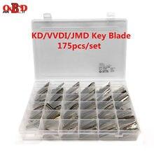 HKOBDII 175/комплект, пустой металлический необработанный ключ для автомобиля, лезвие для KEYDIY KD900/KD-X2 KD VVDI JMD пульты дистанционного управления