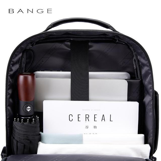 "Bange Fashion Men 15""Laptop Backpack External USB Charge Computer Backpacks Anti-theft Waterproof Travel Backpack for Unisex 2"