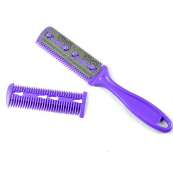 1pc Hair Cutting Comb Hair Brushes with Razor Blades Hair Trimmer Cutting Thinning Tool Barber Tool Hair Salon DIY Styling Tools 1