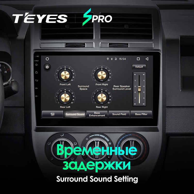 TEYES SPRO para Jeep Compass MK 2006, 2009 de 2010 auto Radio Multimedia reproductor de Video GPS de navegación Android 8,1 No 2din 2 din dvd