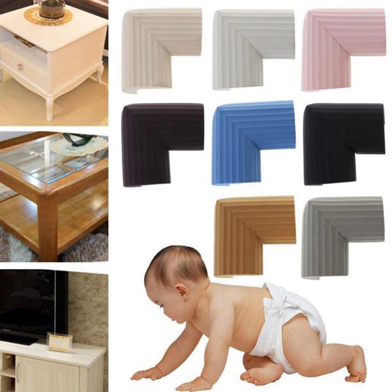 4Pcs/lot Random Color Baby Safety Corner Sponge NBR Edge Protection Infant Protector Children Desk Guards Table Cushion