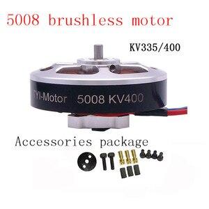 Image 1 - Venda quente 6 pces 5008 kv400/kv335 brushless outrunner motor cw/ccw rc zangão acessórios