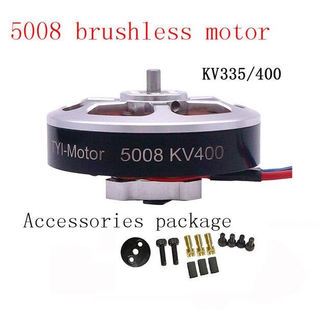 Venda quente 6 pces 5008 kv400/kv335 brushless outrunner motor cw/ccw rc zangão acessórios