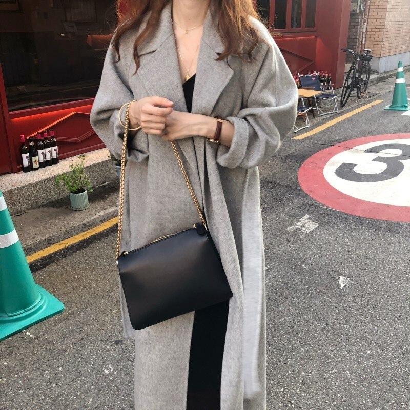 19 Winter Oversize Long Trench Coat Women Cashmere Coat Korean Lady Windbreaker Outwear Streetwear 19