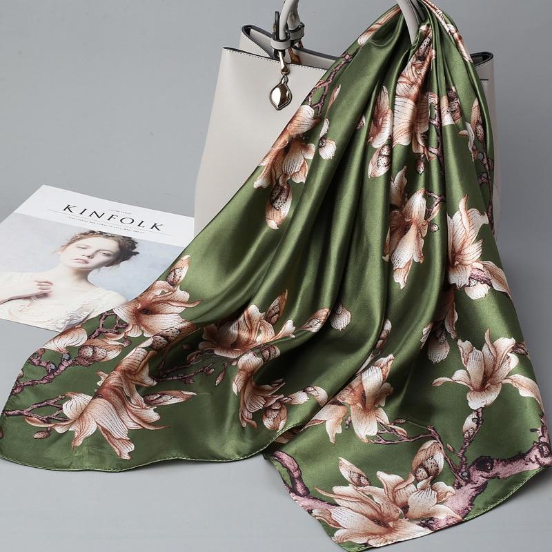 Printed Silk Scarf Square Female Sunscreen Wild Decoration Multifunctional Silk Thin Scarf Man Women 2020 Spring Summer