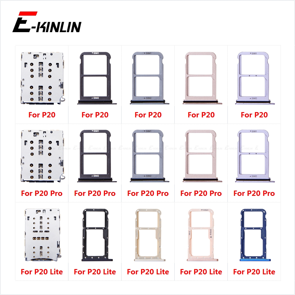 Micro SD Sim Card Tray Socket Slot Adapter Connector Reader For For HuaWei P20 Pro Lite Container Holder Replacement Parts