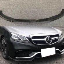 W212 углеродное волокно для переднего бампера, диффузор для губ, спойлер для Mercedes-Benz W212 E260 E300 E400 E63 AMG