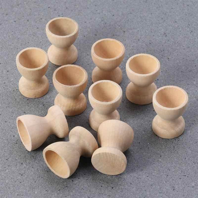 12 шт. DIY деревянный держатель для яиц пасхальное украшение домашнего кухни яйца