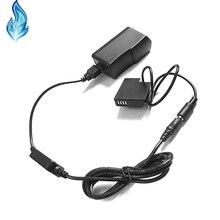 DMW BLH7E BLH7 batterie factice DMW DCC15 + batterie externe chargeur câble USB + adaptateur pour Lumix DMC GM1 GM5 GF7 GF8 GF9 LX10 LX15 caméra