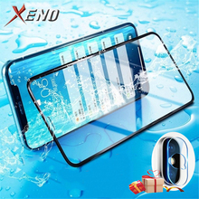 2 in 1 For tempered glass iphone xr xs max screen protector lens film for x back