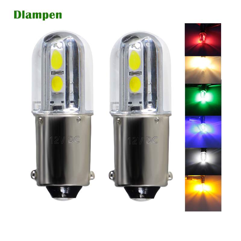 BA9S T4W 1W led bulb light 6V 12v 24v 36v 48v Car Interior Reading Lamp Auto Backup Reserve bulbs yellow blue white <font><b>6</b></font> <font><b>12</b></font> <font><b>24</b></font> v image