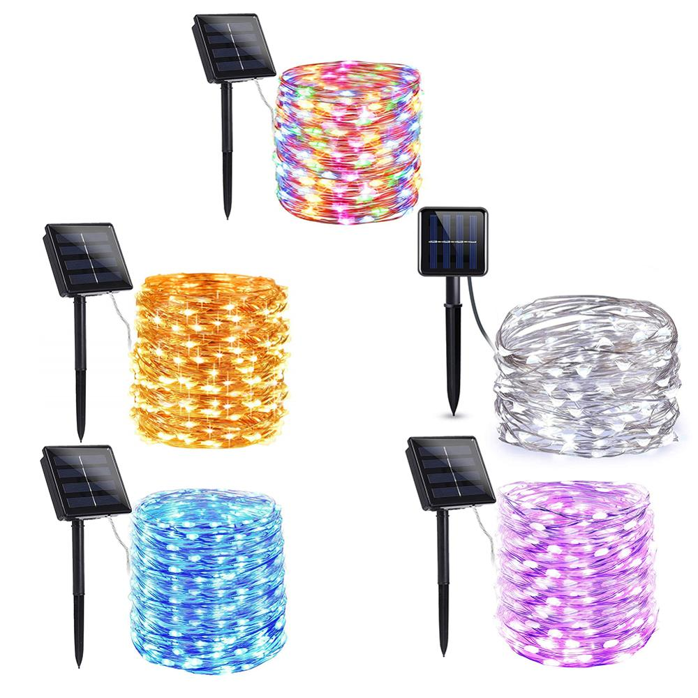 100/200 LED Solar Light Outdoor Waterproof Solar String Lights Fairy Lamp Holiday Christmas Party Decor Garden Garland Light