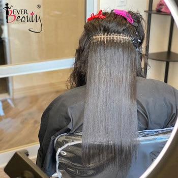 Extensiones de Cabello brasileño liso con punta I, microeslabones, cabello virgen humano para mujeres negras, extensiones de cabello con punta 3S Ever Beauty