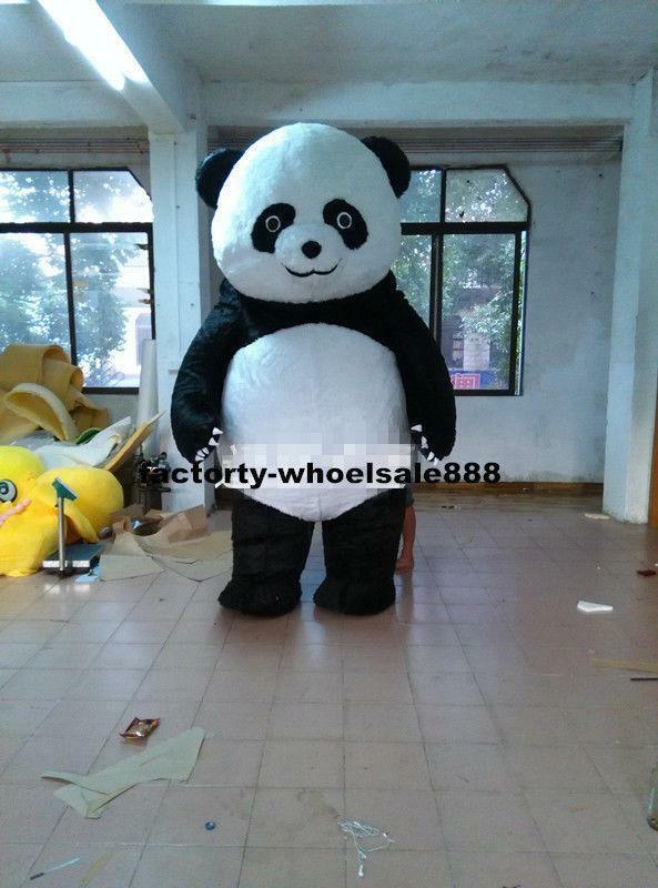 Costume de mascotte ours Panda chinois gonflable Costume de tenue de robe de défilé adulte cadeau fait à la main personnage de dessin animé mascotte Costume cadeau