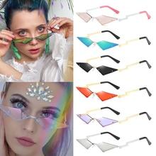 Diamond Shape True Film Sun Glasses Fashion Rimless Sunglass