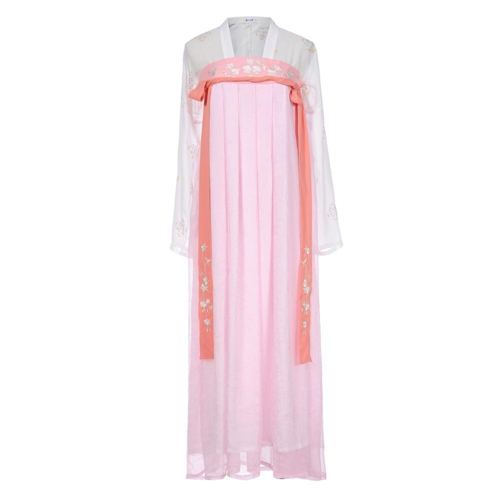 Hanfu костюм для китайских танцев традиционное платье Тан женское Старинное платье народный фестиваль сценическая одежда для выступлений наряд SL1253 - Цвет: As picture