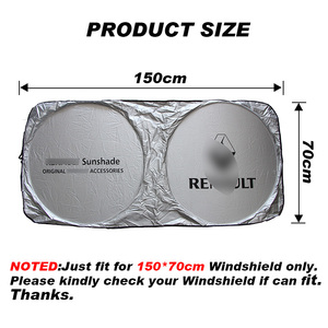 Image 2 - Car Sunshade Front Window Protection Shield Windshield Visor Cover For Renault Kia bmw skoda honda mazda audi nissan car styling