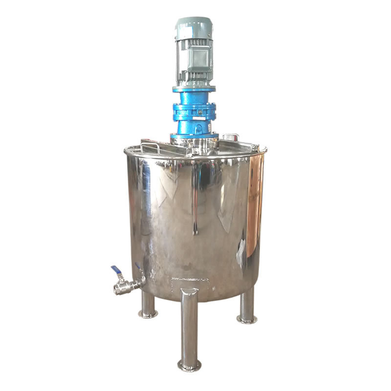 Stainless Steel Single Layer Mixing Tank Liquid Batching Tank Chemical Mixing Tank Vertical Detergent Mixer