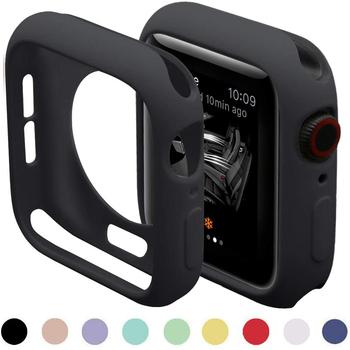 Cukierki miękki futerał silikonowy do zegarka Apple Watch 6 SE 5 4 3 2 1 42MM 38MM pokrywa ochrona Shell dla iWatch 4 5 6 3 2 40MM 44MM zderzak tanie i dobre opinie CAOWTAN silicone CN (pochodzenie) for apple watch case APB0046