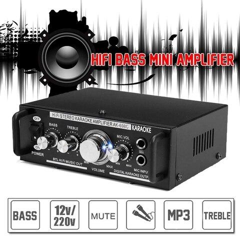 amplificador de potencia alta fidelidade mp3 booster ak 698c plugue ue
