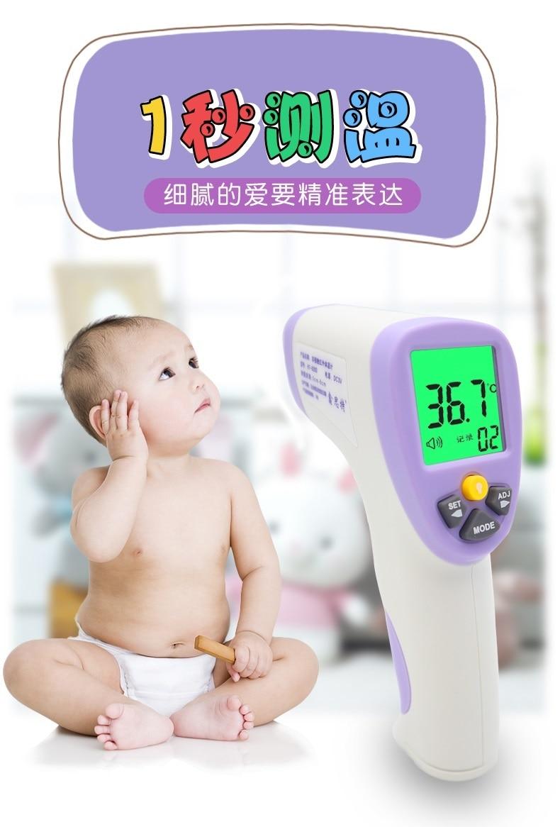 Termometr do pomiaru temperatury ciała termometr na podczerwień bezdotykowy termometr kontaktowy pistolet termometr elektroniczny HT-820D 32-43