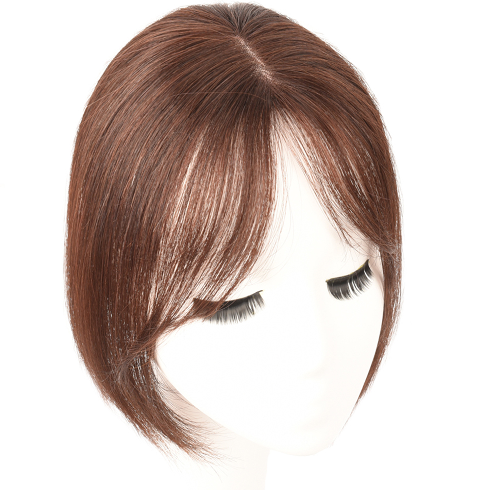 Salonchat Long Clip In On Front Hair Bang Side Fringe Hair Extension Real Natural 3D Remy Human Hair Bangs Clip In Hair Piece