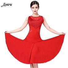 Nowe mody Latin Dance Dress kobiety Tassel Ballroom/Tango/Rumba/Latin kostium taneczny bez rękawów Latin konkurs sukienka do tańca