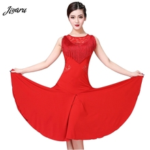 Robe de danse latine, nouvelle mode pour femme, robe à pompons, pour salle de bal/Tango/Rumba/Latin, sans manches, Costume de danse, compétition latine